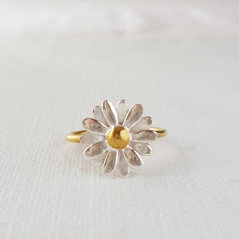 Gold Vermeil Medium Flower Garland Ring