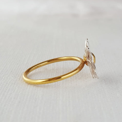 Gold and Silver Daisy Ring