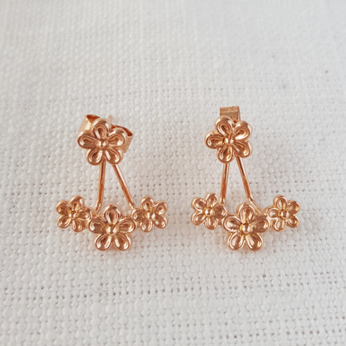 Rose Gold Garland Flower Ear Jackets