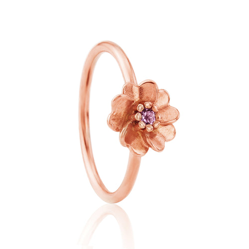 Rose Gold Wild Rose Stacking Ring