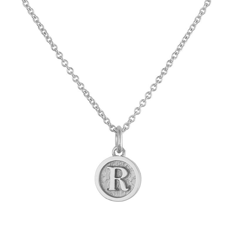 Sterling Silver Initial Coin Necklace