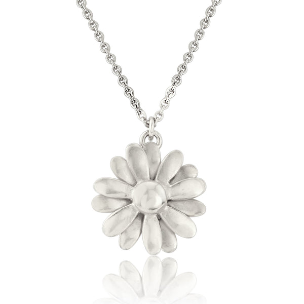 Silver Daisy necklace pendant