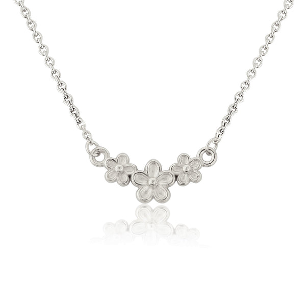 Silver Garland Flower Necklace Pendant