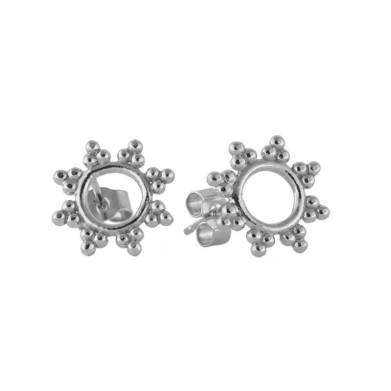 Sterling Silver Sunshine Stud Earrings