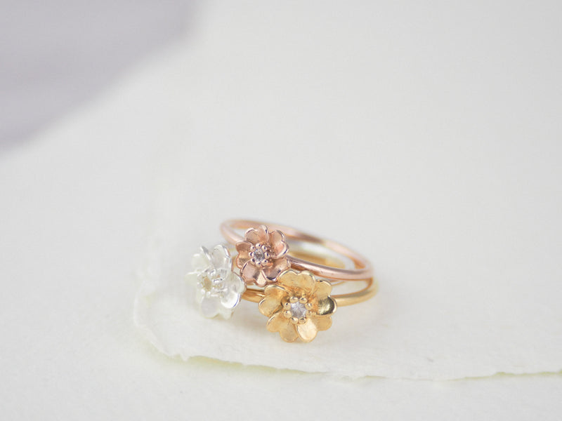 Rose Gold Vermeil Wild Rose Ring