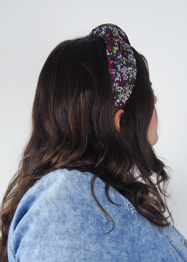 Meadow Florals Wide Knot Headband