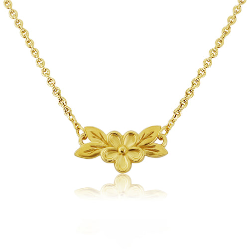 Gold Posy Flower Necklace