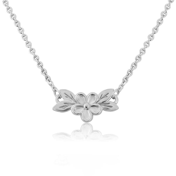 Silver Posy Flower Necklace