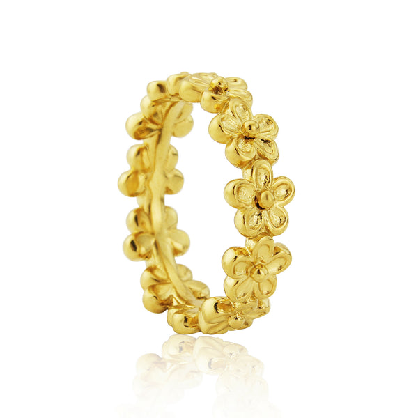 Gold Garland Flower Stacking Ring