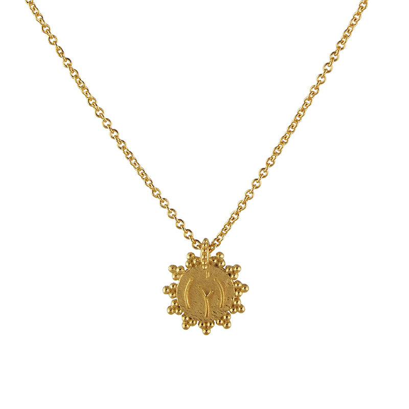 Gold Vermeil Naked Lady Tummy Necklace