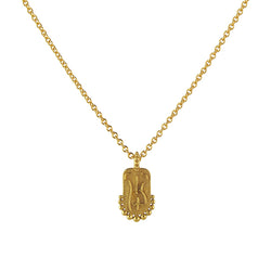 Gold Vermeil Naked Lady Bum Necklace