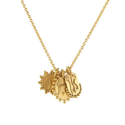 Gold Vermeil Naked Lady Trio Necklace