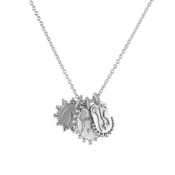 Silver Naked Lady Trio Necklace