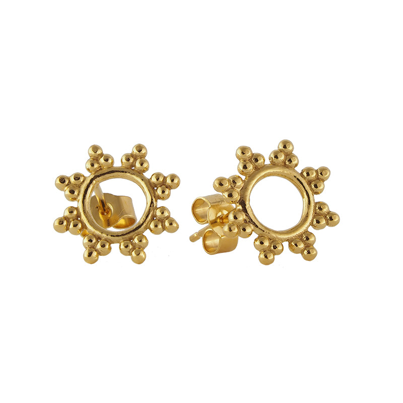 Yellow Gold Vermeil Sunshine Stud Earrings