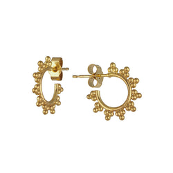 Yellow Gold Vermeil Sunshine Hoop Earrings