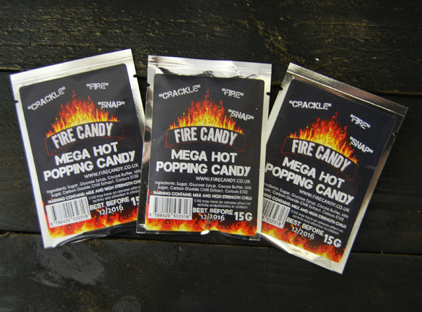 Mega Hot Popping Candy Triple Pack