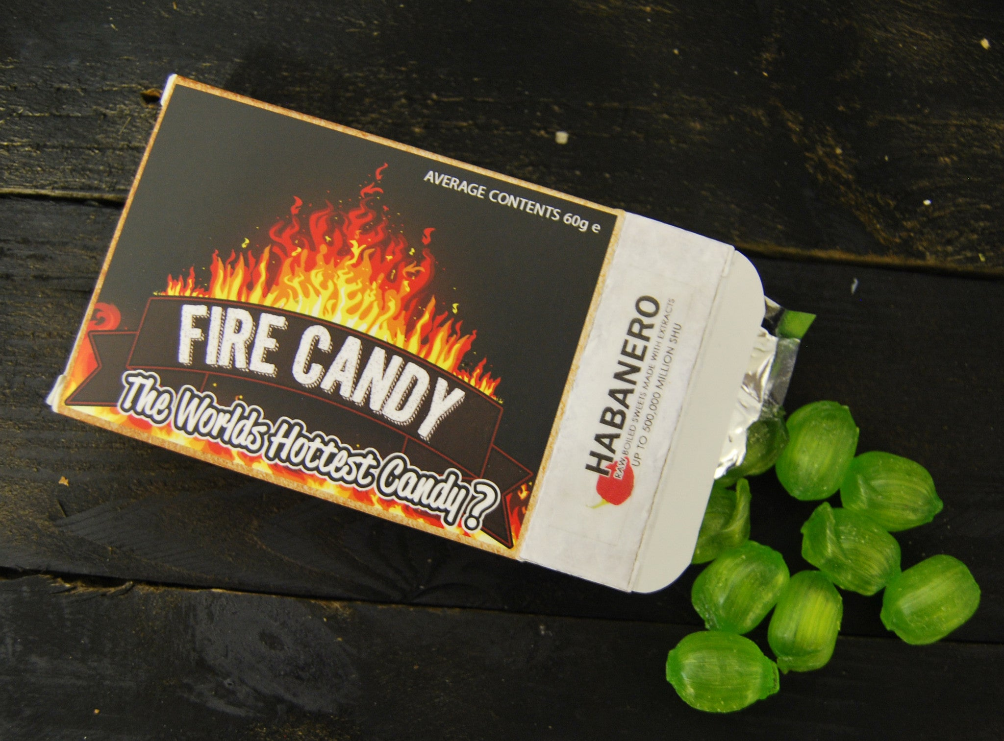 """Raw Heat"" Habanero Chili Candies from Firecandy"