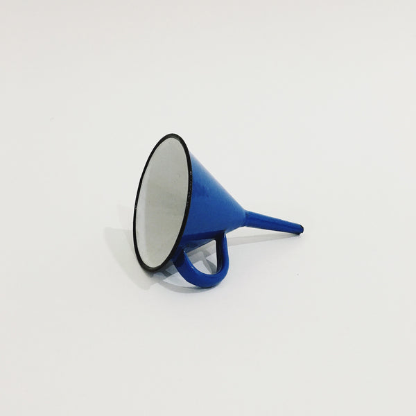 Royal Blue/White Enamel Funnel