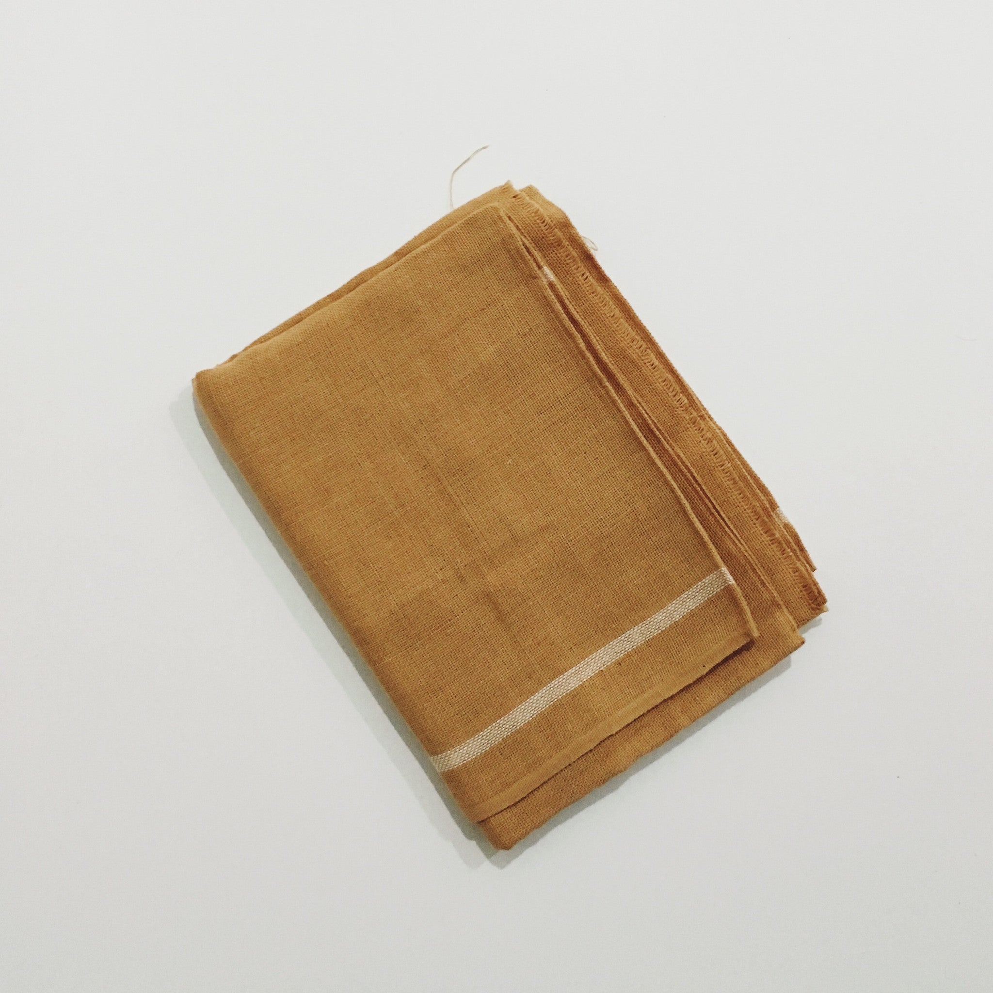 Handloom Caramel Brown Scarf/Towel