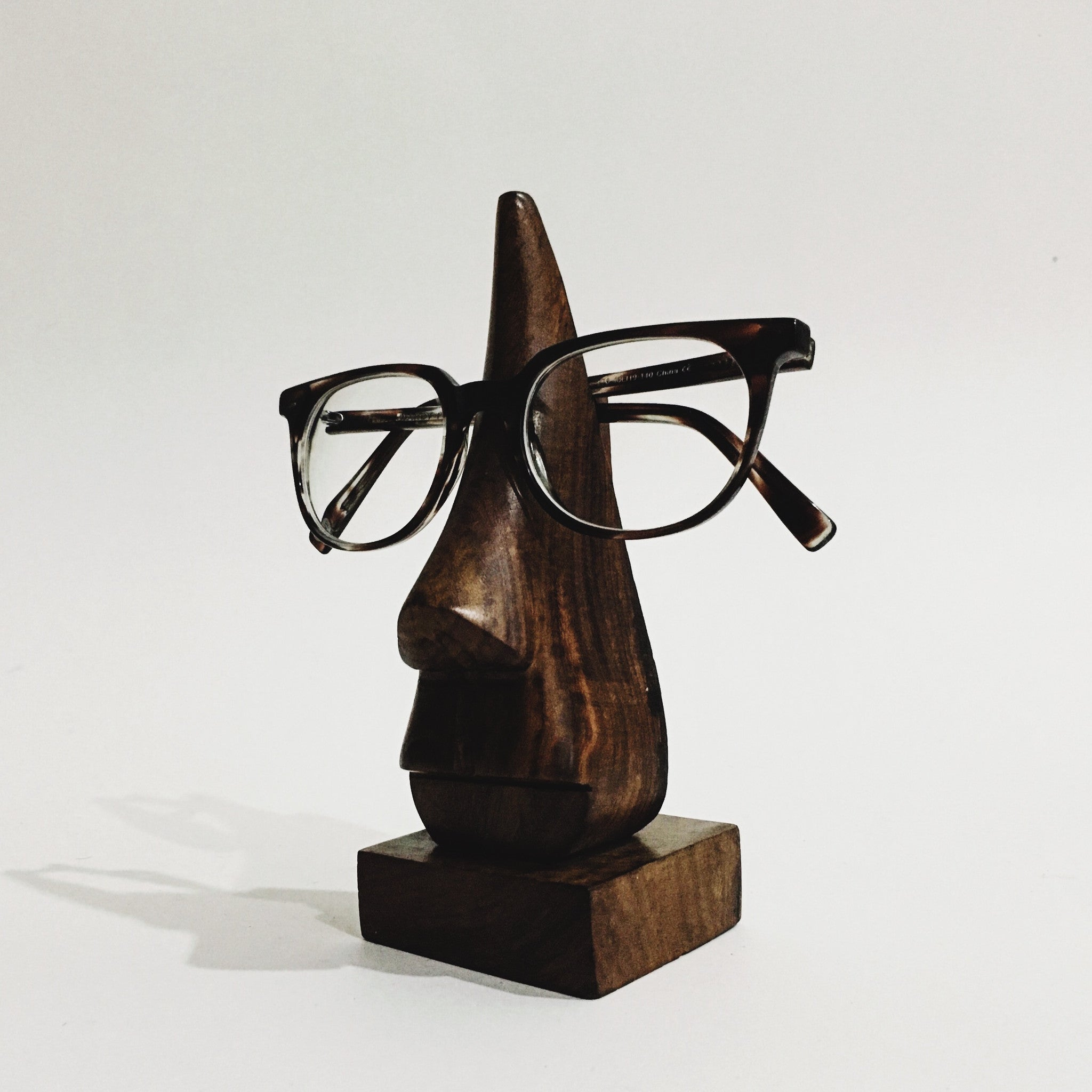 Rosewood Eyeglass Nose Stand