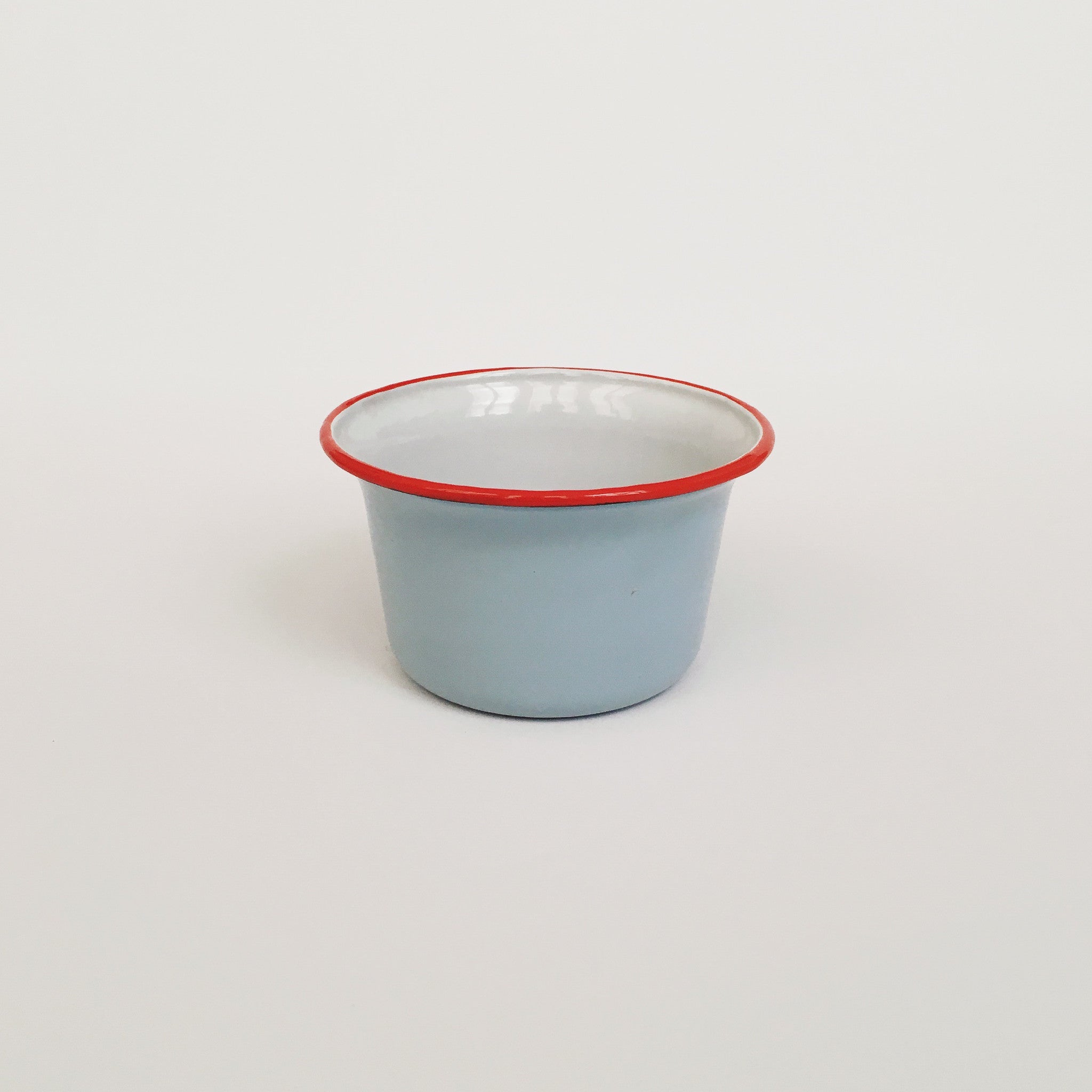 Baby Blue/Red Enamel Bowl