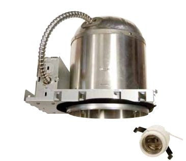 "6"" Line Voltage Recessed Can, New Construction IC Airtight Floating Socket - Lighting Getz"