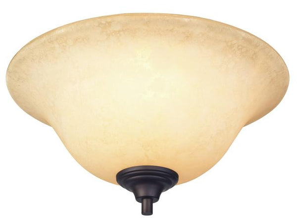 Kings Canyon Two-Light Flush Ceiling Fixture, Oil Rubbed Bronze Finish with Burnt Scavo Glass - Lighting Getz