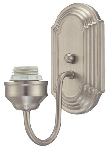 One-Light Indoor Wall Fixture, Brushed Nickel Finish