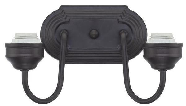 Two-Light Indoor Wall Fixture, Oil Rubbed Bronze Finish - Lighting Getz
