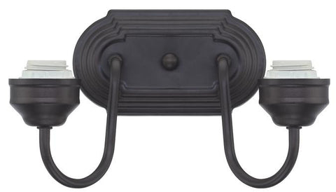 Two-Light Indoor Wall Fixture, Oil Rubbed Bronze Finish