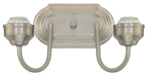 Two-Light Indoor Wall Fixture, Brushed Nickel Finish - Lighting Getz