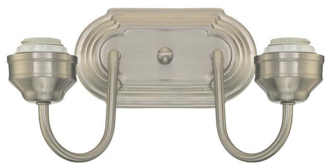 Two-Light Indoor Wall Fixture, Brushed Nickel Finish