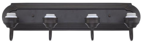 Four-Light Indoor Wall Fixture, Oil Rubbed Bronze Finish