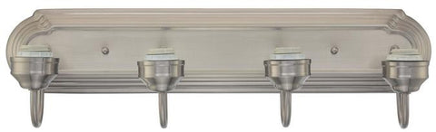 Four-Light Indoor Wall Fixture, Brushed Nickel Finish