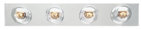 Four-Light Indoor Bath Bar, Chrome Finish - Lighting Getz