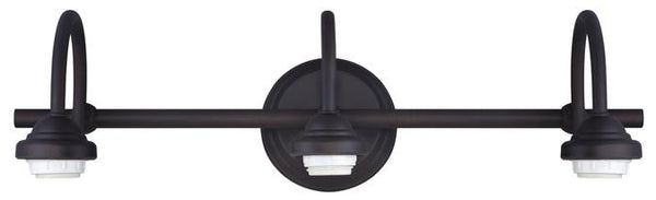 Three-Light Indoor Wall Fixture, Oil Rubbed Bronze Finish - Lighting Getz
