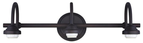 Three-Light Indoor Wall Fixture, Oil Rubbed Bronze Finish