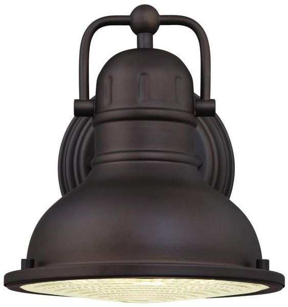 Orson LED Outdoor small  Wall Lantern, Oil Rubbed Bronze Finish on Steel with Clear Prismatic Lens - Lighting Getz