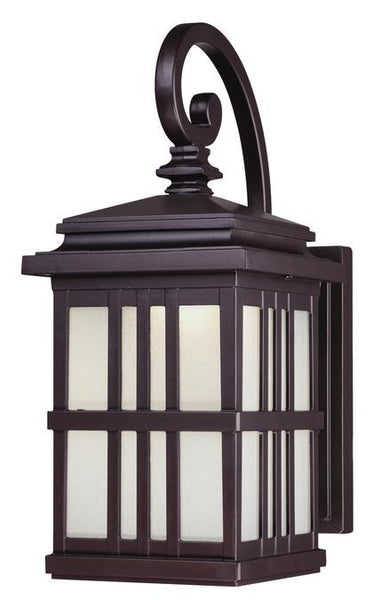 LED Outdoor Wall Lantern, Oil Rubbed Bronze Finish on Cast Aluminum with Frosted Glass - Lighting Getz