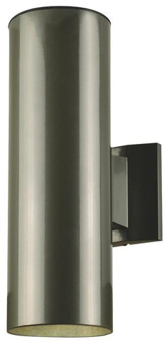 Two Light Outdoor Wall Fixture Polished Graphite Finish On