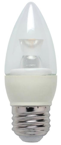 3 Watt (Replaces 25 Watt) Torpedo B10 Dimmable LED Light Bulb, ENERGY STAR, 3000K Warm White E26 (Medium) Base, 120 Volt, Box
