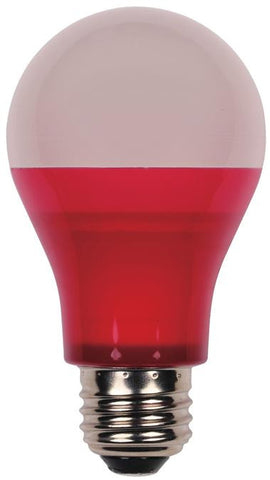 5 Watt (Replaces 40 Watt) Omni A19 LED Party Bulb, Weatherproof, Red E26 (Medium) Base, 120 Volt Box