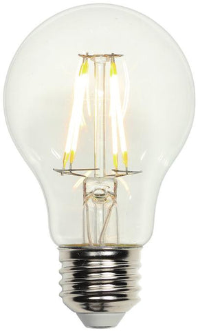 5 Watt (Replaces 40 Watt) A19 Dimmable Filament LED Light Bulb, 2700K Warm White E26 (Medium) Base, 120 Volt, Box
