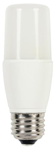 8 Watt (Replaces 60 Watt) T7 LED Light Bulb, 3000K Warm White E26 (Medium) Base, 120 Volt, Card