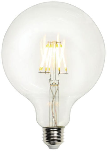 5 Watt (Replaces 40 Watt) G40 Globe Dimmable Filament LED Light Bulb, 2700K Warm White E26 (Medium) Base, 120 Volt, Box