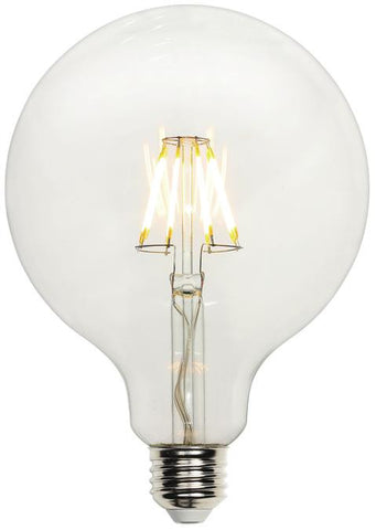7-1/2 Watt (Replaces 60 Watt) G40 Globe Dimmable Filament LED Light Bulb, 2700K Warm White E26 (Medium) Base, 120 Volt, Box