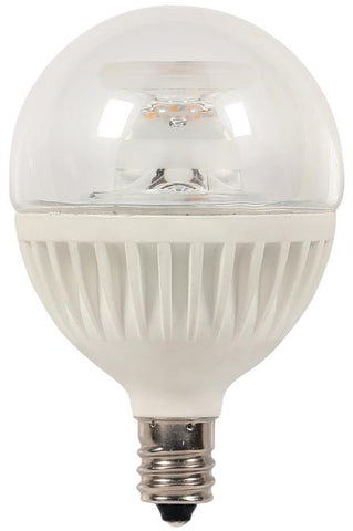 7 Watt (Replaces 60 Watt) Globe G16-1/2 Dimmable LED Light Bulb, ENERGY STAR, 2700K Warm White E12 (Candelabra) Base, 120 Volt, Card