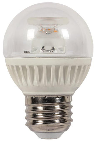 7 Watt (Replaces 60 Watt) Globe G16-1/2 Dimmable LED Light Bulb, ENERGY STAR, 2700K Warm White E26 (Medium) Base, 120 Volt, Card
