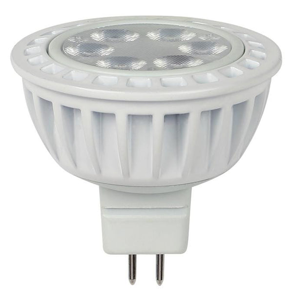 5 Watt (Replaces 35 Watt) MR16 Dimmable LED Light Bulb, 3000K Warm White GU5.3 Base, 12 Volt Hanging Box - Lighting Getz