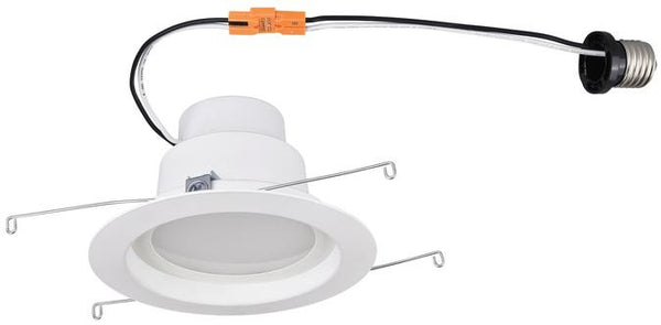 14 Watt (Replaces 80 Watt) 5-Inch Dimmable Recessed LED Downlight, ENERGY STAR, 3000K Warm White E26 (Medium) Base Socket Adapter, 120 Volt, Contractor Box - Lighting Getz